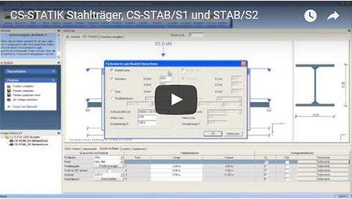 CS-STATIK Stahlträger, CS-STAB/S1 und STAB/S2