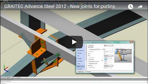 Advance Steel 2012 - Neue Anschlüsse für Pfetten