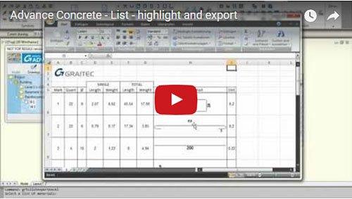 Listen - Hervorhebung und Excel Export