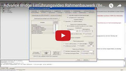 Advance Bridge Einführungsvideo Rahmenbauwerk (Bemessung, Nachweise Überbau)