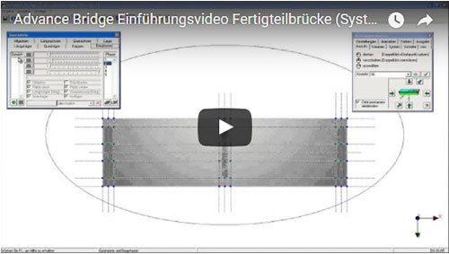 Advance Bridge Einführungsvideo Fertigteilbrücke (Systemeingabe Teil 1)