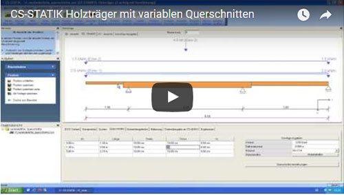 CS-STATIK Holzträger mit variablen Querschnitten