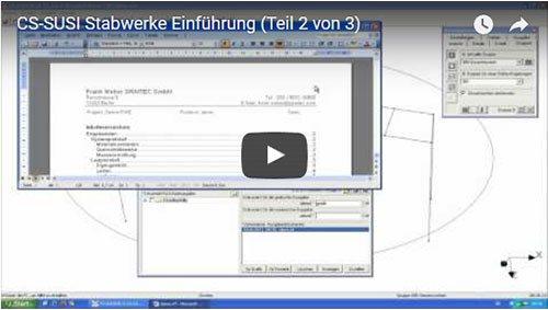 CS-SUSI Stabwerke Einführungsvideo (Teil 2)
