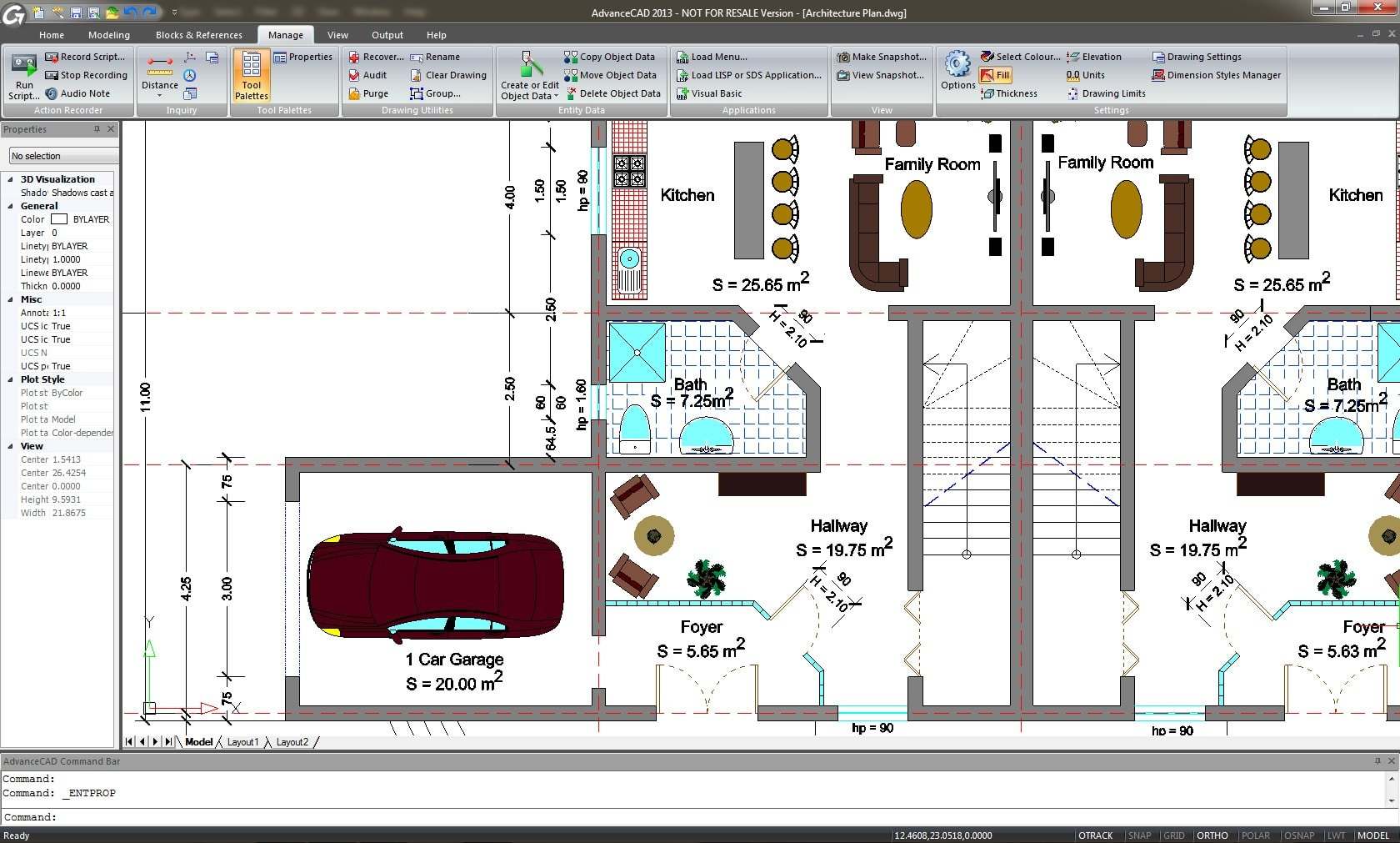 Advance cad graitec germany for Cad car plan