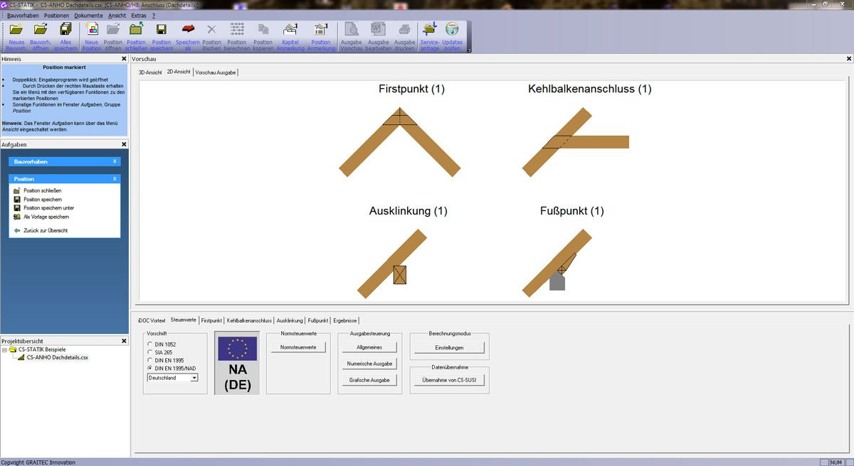 GRAITEC CS-Statik | Module Holzbau | Anschlüsse