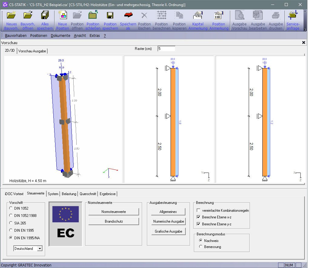 GRAITEC CS-Statik | Module Holzbau | Stützen