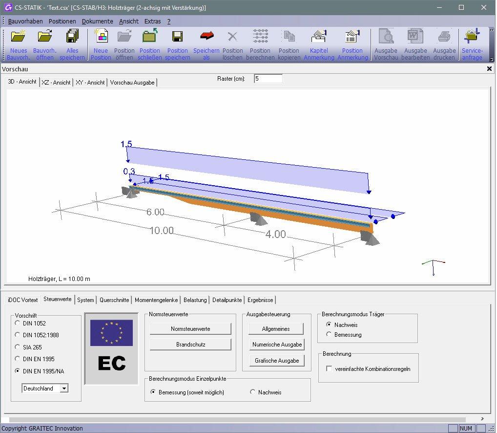 GRAITEC CS-Statik | Module Holzbau | Träger