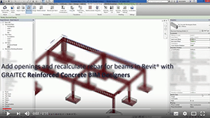 Neuberechnung von Bewehrungsstäben für Träger mit Öffnungen mit den BIM Designern für Stahlbetonbau