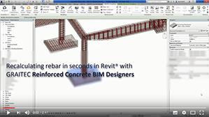 Neuberechnung von Bewehrungsstäben für Fundamente in Revit mit den BIM Designern für Stahlbetonbau