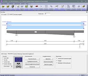 GRAITEC CS-Statik | Module Stahlbetonbau | Durchlaufträger