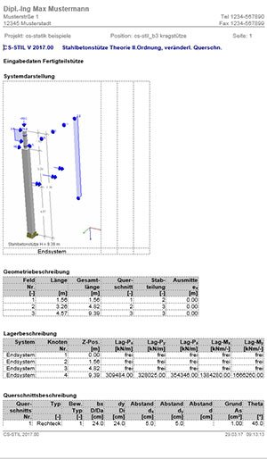 GRAITEC CS-Statik | Module Stahlbetonbau | Stützen