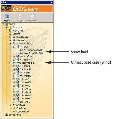 GRAITEC Advance Design | Generator für klimatische Lasten | Schnelle und präzise Ermittlung der Schnee- und Windlasten