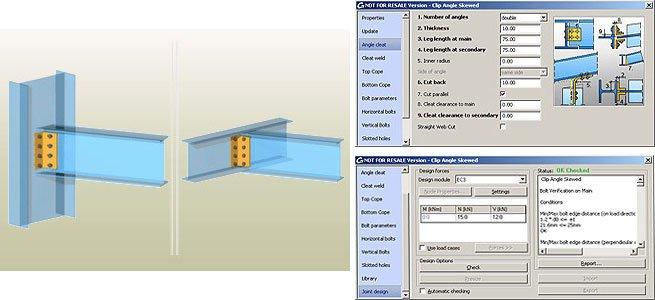 GRAITEC Autodesk Advance Steel | Eurocodes 3 | Winkel - schräg