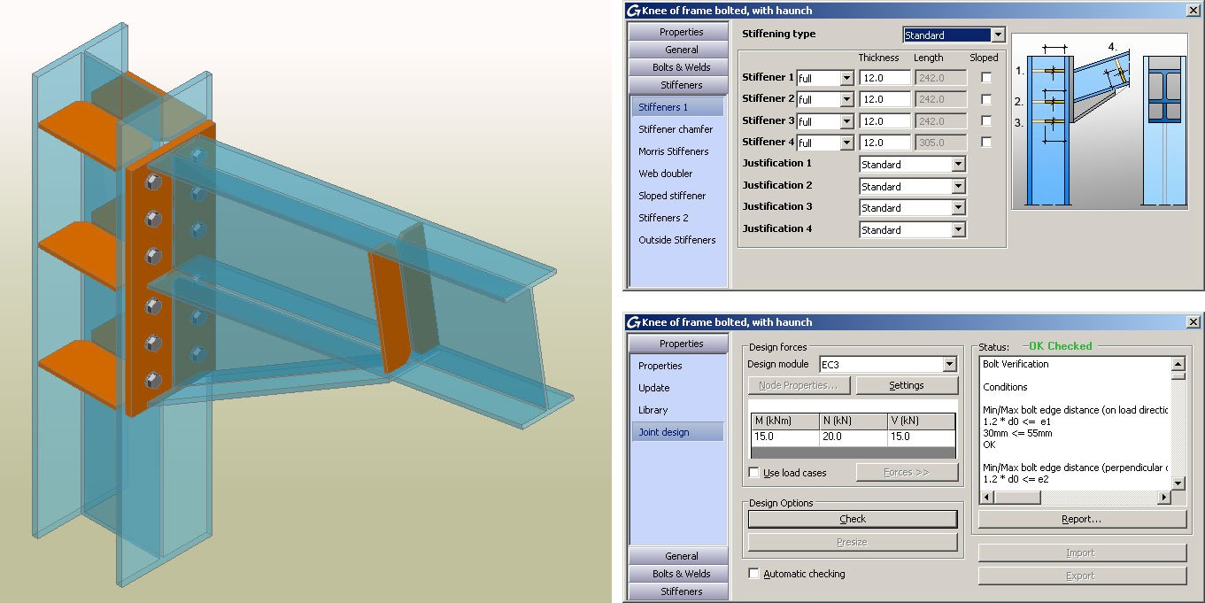 GRAITEC Autodesk Advance Steel | Eurocodes 3 | Voute an Stützenflansch