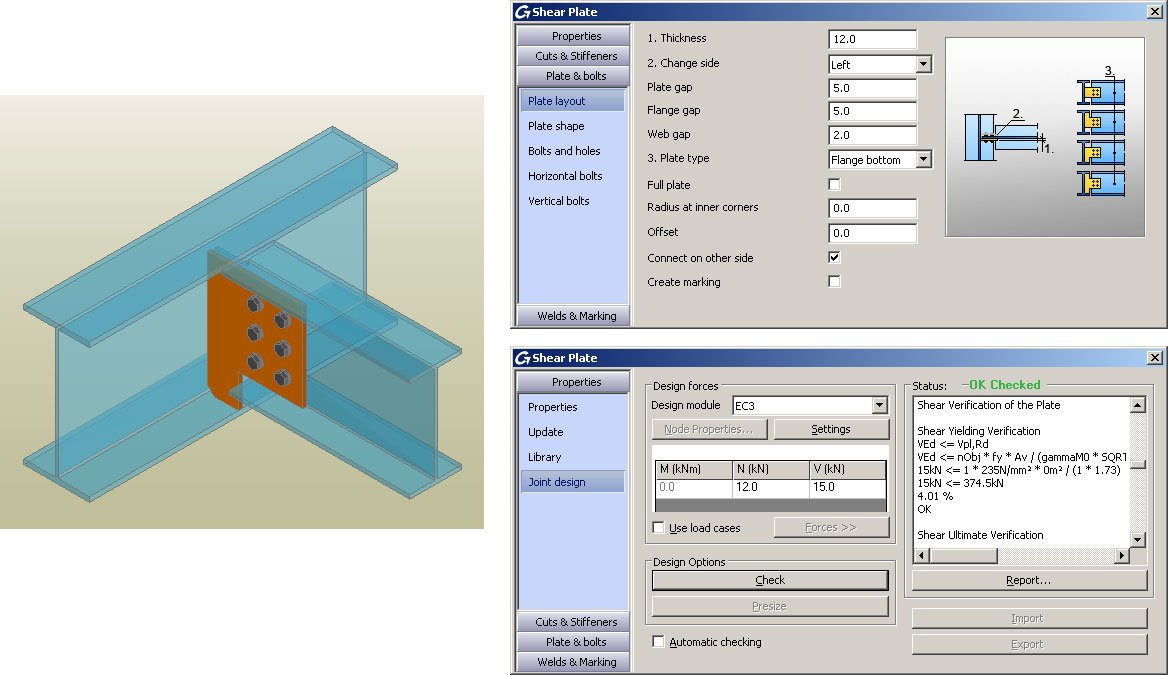 GRAITEC Autodesk Advance Steel | Eurocodes 3 | Schubplatte
