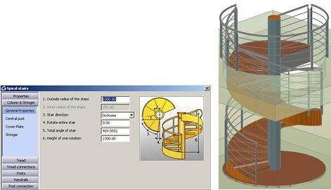 GRAITEC Autodesk Advance Steel | Treppen und Geländer | Wendeltreppen