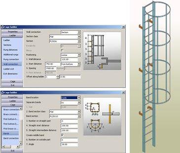 GRAITEC Autodesk Advance Steel | Treppen und Geländer | Steigleitern