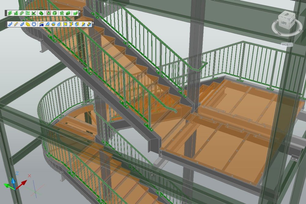 Stairs Treppen treppen und geländer autodesk advance steel graitec germany