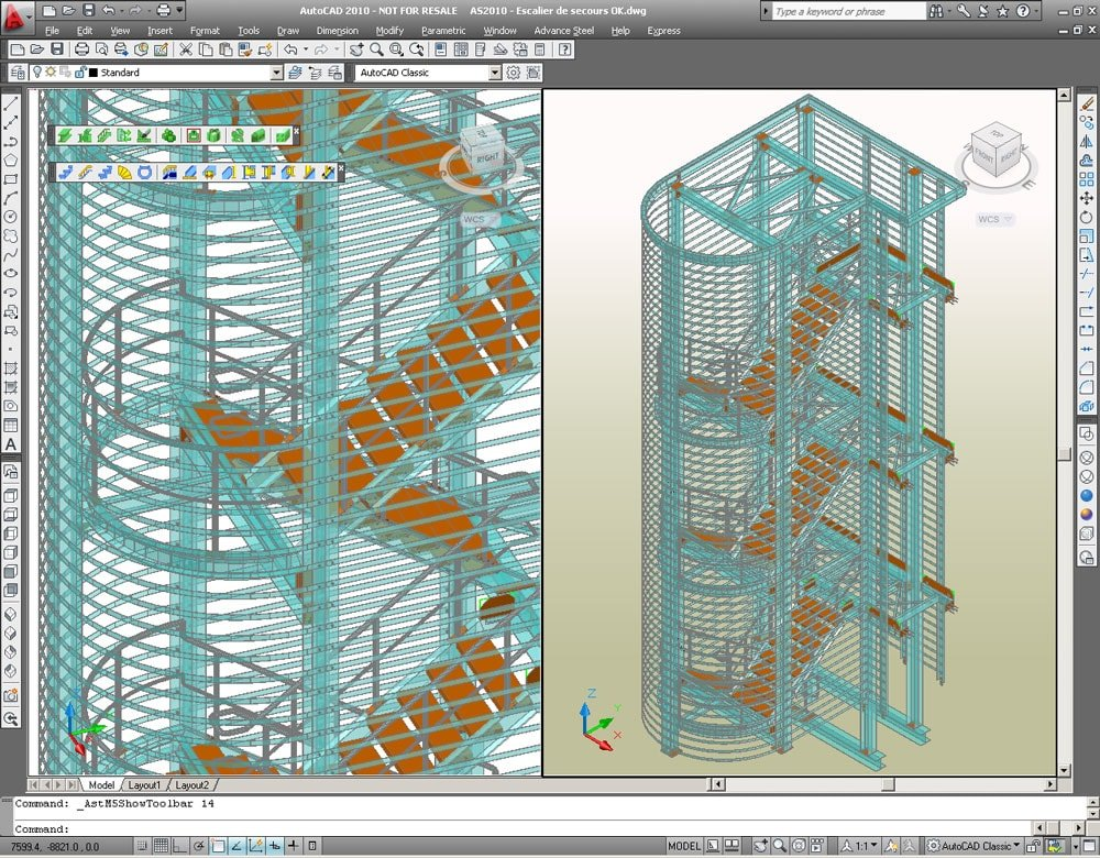 GRAITEC Autodesk Advance Steel | Treppen und Geländer | Treppen - schnell und einfach