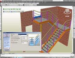 GRAITEC Autodesk Advance Steel | Treppen und Geländer | Den Kundenwünschen leicht anzupassen