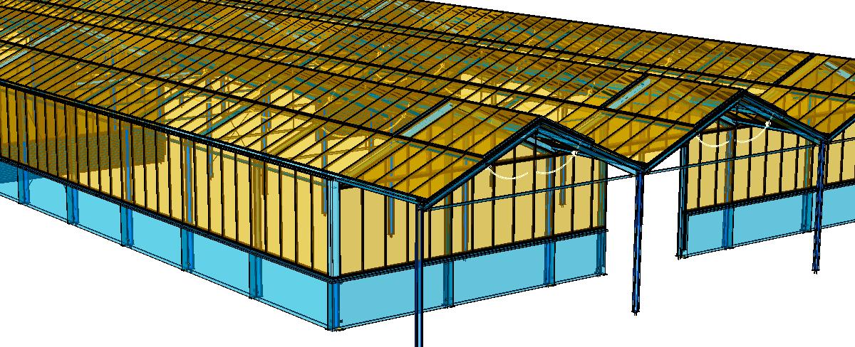 Gewächshausanlage einer Gärtnerei