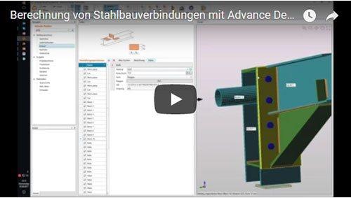 Berechnung von Stahlbauverbindungen mit Advance Design Connection
