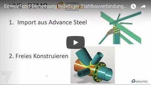 Entwurf und Bemessung beliebiger Stahlbauverbindungen