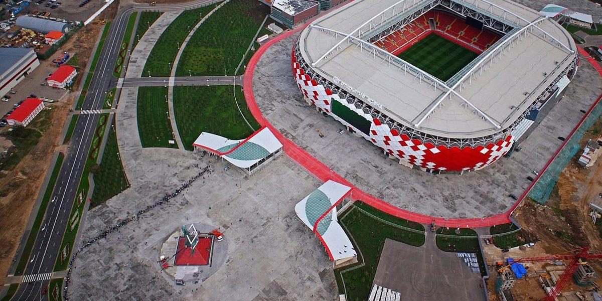 Fassade Gitterstruktur für Spartak Stadium