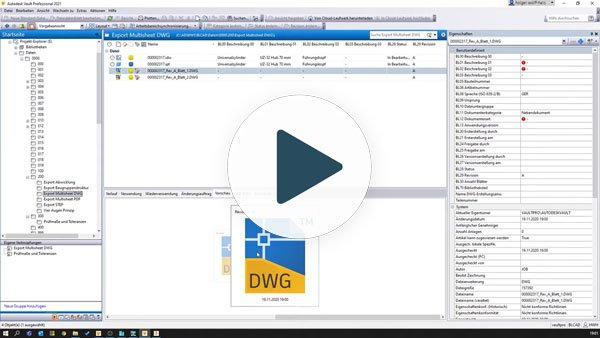 Multisheet IDW Export zu DWG